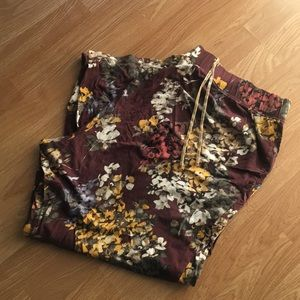 Floral Pajama Pants 22/24 Short by Lane Bryant